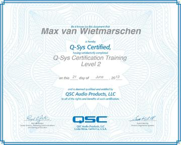 QSC Q-Sys Certified